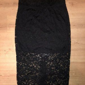 High waisted lace skirt